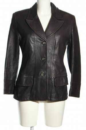 Christ Leather Jacket dark brown business style