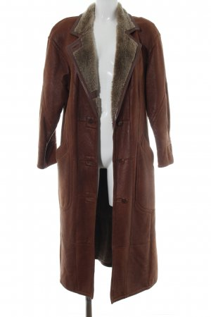 Christ Leather Coat brown casual look