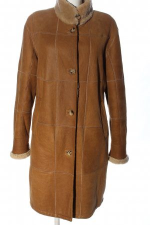 Christ Leather Coat brown quilting pattern casual look