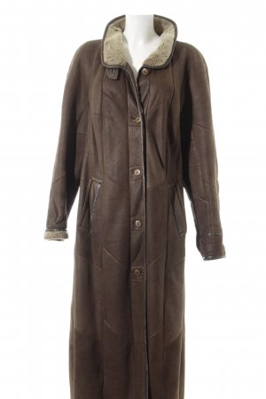 Christ Leather Coat brown-beige quilting pattern casual look