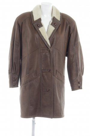 Christ Leather Coat brown