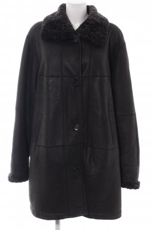 Christ Leather Coat black business style