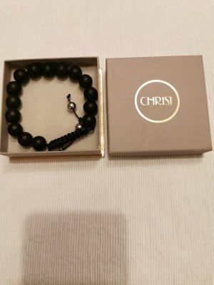 Armband met parels zwart-zilver