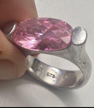 Christ Ring mit rosa Schmuckstein echt Silber