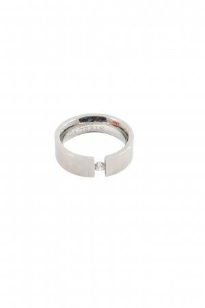 Christ Ring mit Zierstein silberfarben Casual-Look
