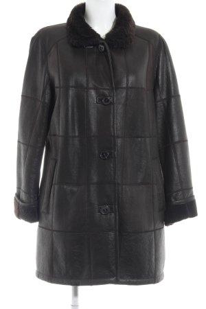 Christ Between-Seasons-Coat dark brown casual look