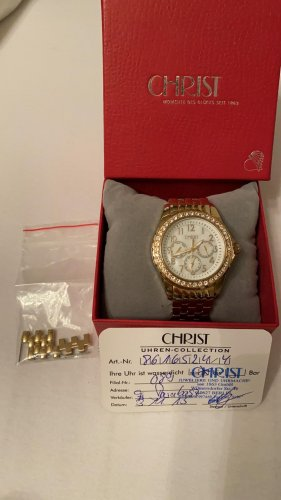 Christ Watch With Metal Strap gold-colored