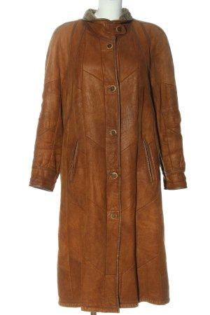 Christ Manteau d'hiver brun motif de courtepointe style décontracté