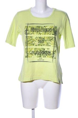 Christa Probst Print Shirt green-black flower pattern casual look