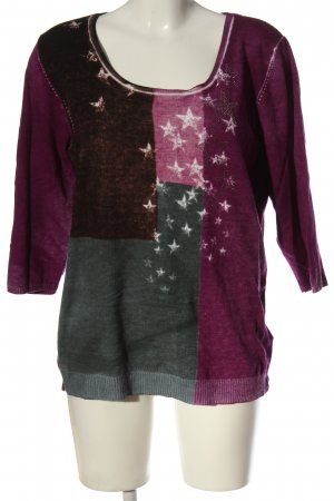 Christa Probst Crewneck Sweater themed print casual look