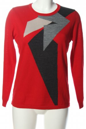 Christa Probst Knitted Sweater abstract pattern casual look