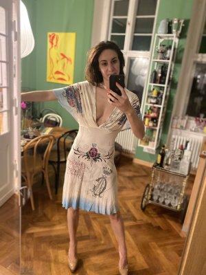 Christian Audigier Midi Dress cream