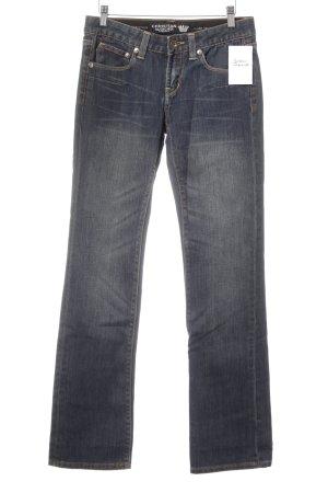 Christian Audigier Boot Cut Jeans dunkelblau extravaganter Stil