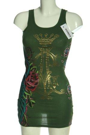 Christian Audigier Mini Dress allover print casual look