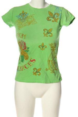 Christian Audigier Print Shirt green themed print casual look