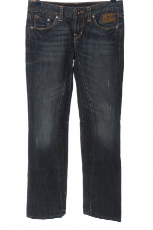 Christian Audigier Straight Leg Jeans blue street-fashion look