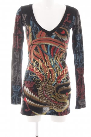 Christian Audigier Stretch Dress abstract pattern casual look