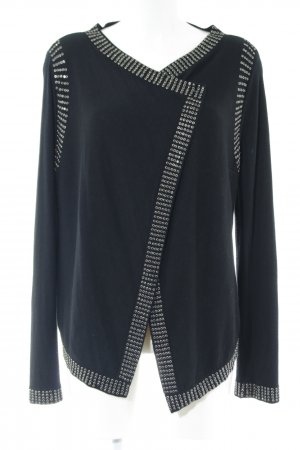 Christian Audigier Knitted Cardigan black themed print casual look