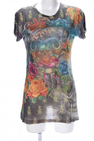 Christian Audigier T-Shirt Allover-Druck Party-Look
