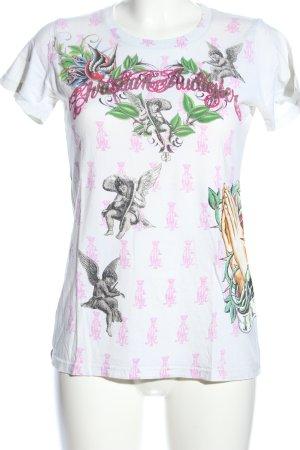Christian Audigier T-Shirt Motivdruck Casual-Look