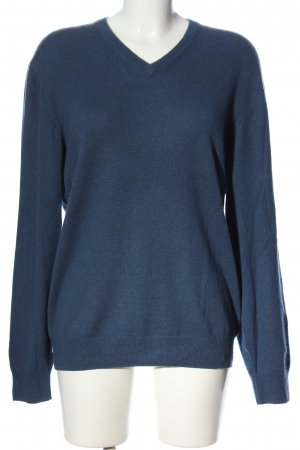 Christian Berg Cashmere Jumper blue flecked casual look