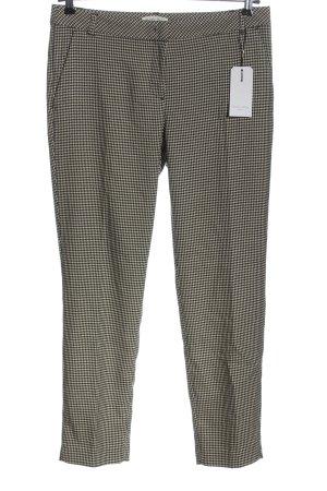 Christian Berg Pantalone chino nero-bianco sporco stampa integrale stile casual