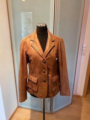 Christian Berg Leather Jacket brown leather