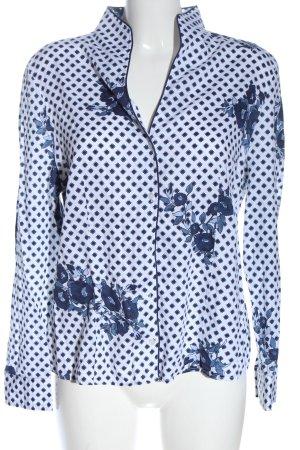 Christian Berg Shirt Blouse white-blue allover print business style