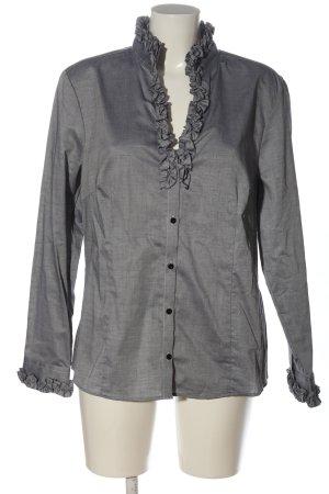 Christian Berg Camicia blusa grigio chiaro stile casual
