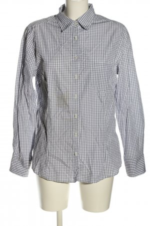 Christian Berg Camicia blusa grigio chiaro motivo a quadri stile casual