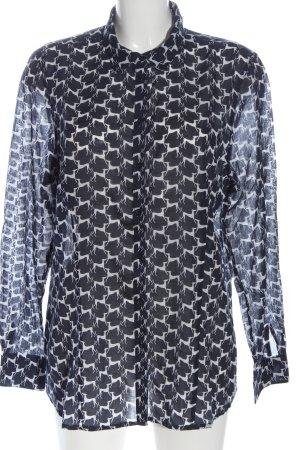 Christian Berg Camicia blusa nero-bianco stampa integrale stile casual