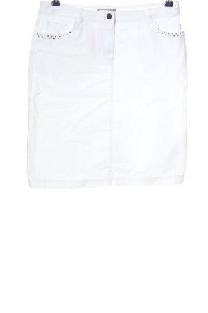 Christian Berg Denim Skirt white casual look