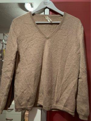 Christian Berg Cashmere Jumper light brown cashmere
