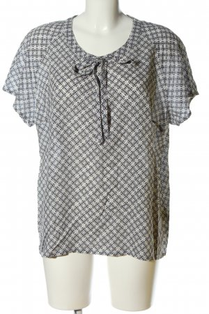 Christian Berg Short Sleeved Blouse blue-natural white allover print casual look