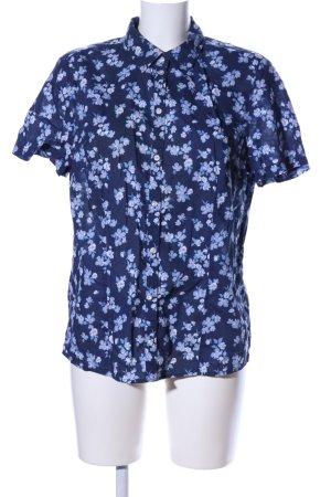 Christian Berg Short Sleeved Blouse blue-pink flower pattern casual look