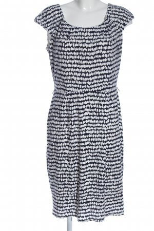 Christian Berg Shortsleeve Dress black-white abstract pattern casual look