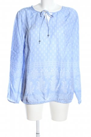 Christian Berg Long Sleeve Blouse blue-white mixed pattern casual look