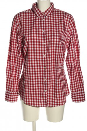 Christian Berg Langarm-Bluse rot-weiß Allover-Druck Casual-Look