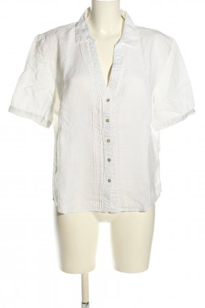 Christian Berg Blusa de lino blanco look casual