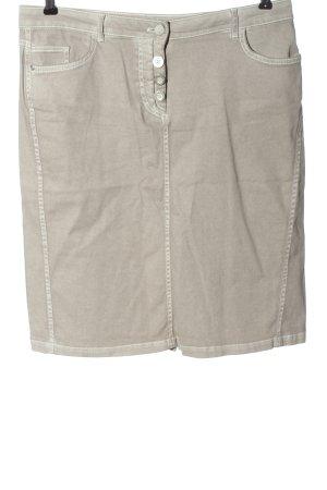 Christian Berg Gonna di jeans bianco sporco puntinato stile casual
