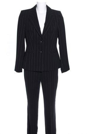 Christian Berg Pinstripe Suit black-white striped pattern business style