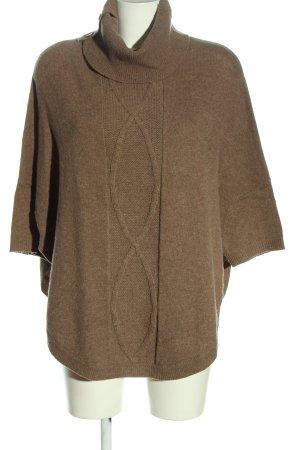 Christian Berg Oversized Pullover braun Casual-Look