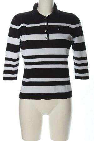 Christian Berg Koszulka polo czarny-biały Wzór w paski W stylu casual