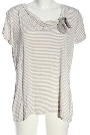 Christian Berg Gestreept shirt lichtgrijs-wit gestreept patroon