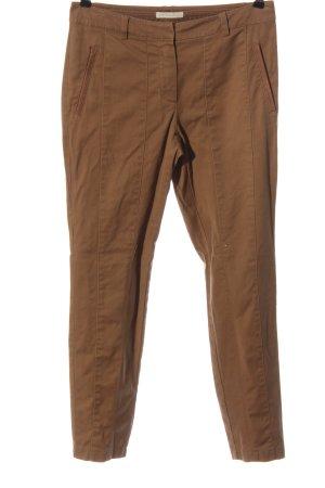 Christian Berg Drainpipe Trousers brown casual look