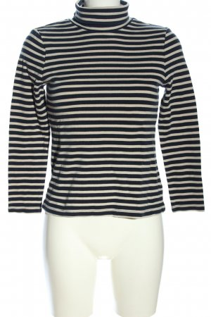 Christian Berg Turtleneck Sweater cream-black striped pattern casual look