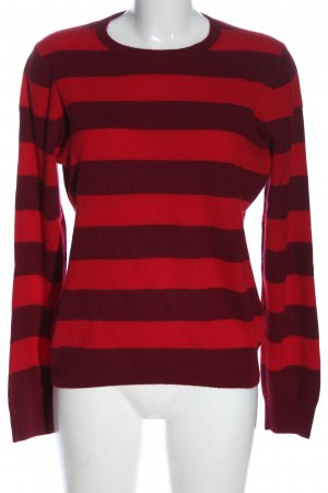 Christian Berg Crewneck Sweater red striped pattern casual look