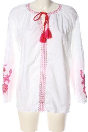Christian Berg Camicetta da notte bianco-rosso stile casual