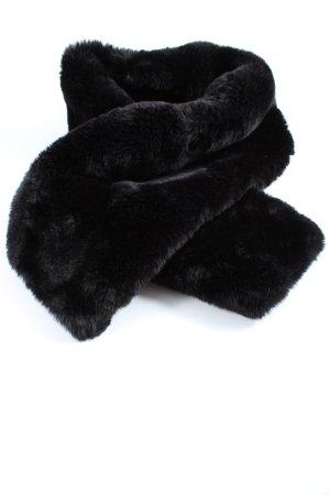 Christian Berg Sciarpa con frange nero stile casual