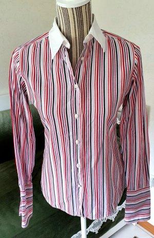 Christian Berg Stockholm Bluse 36 S weiß rot pink lila schwarz